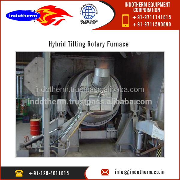 Multipurpose Hybrid Design Rotary Furnace for Aluminium Scrap and Chip at Low Price