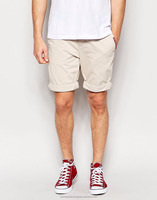Chino Shorts - 2016 slim fit Shorts 4 Pocket Styling Grey Chino Shorts For Men