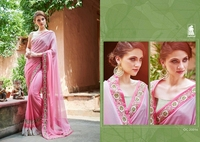 DESIGNER SAREES WITH ATTACHED BLOUSE