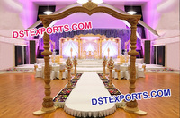 Indian Wedding Designer Wooden Pillars Gate
