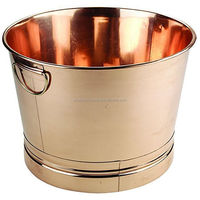 copper shiny top material large round wine cooler
