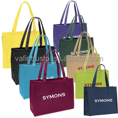 Cheap printed shopping bag, pp non woven bag wholesale, non woven promotional shopping bag