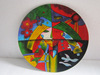 Round Lacquer Painting dish, imagine picture, lovely decor, handicraft from traditional village
