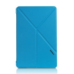 REMAX Origami Pattern Smart Leather Stand Protective Case for iPad Mini 4 - Blue