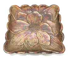 Attractive square designer charger plate antique copper aluminium centrepiece brass Fruit plate
