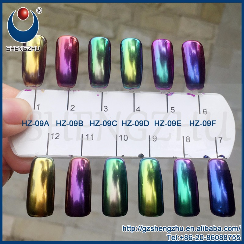 Nail Chrome Powder With Candy Color Mirror Chameleon Pigment