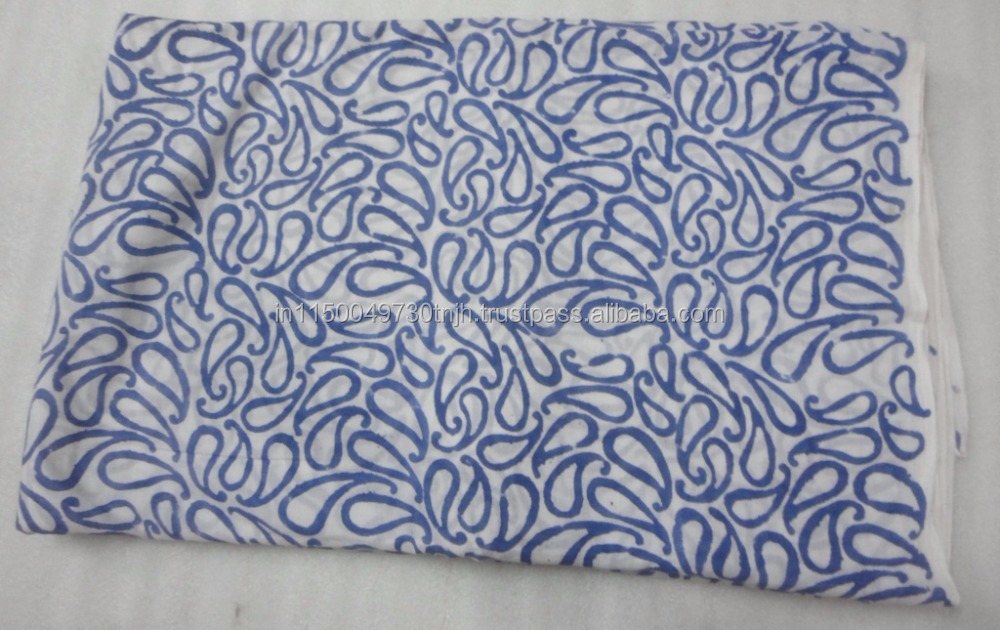 Multi purpose use Jaipuri cotton floral hand blockplain fabric manufacturer from india Printed Fabric