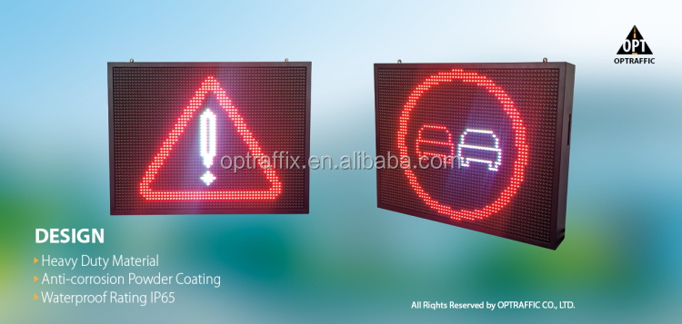 P10 P16 P20 P25 P31.25 Wireless LED Moving Message Display Varaible Message Signs Led Digital Information Display