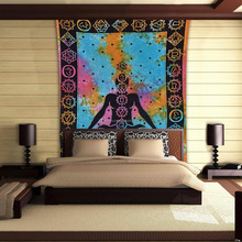 Meditation Mandala Tapestry Wholesale Printed Cotton Wall Decoration Bedsheet Wall Tapestry