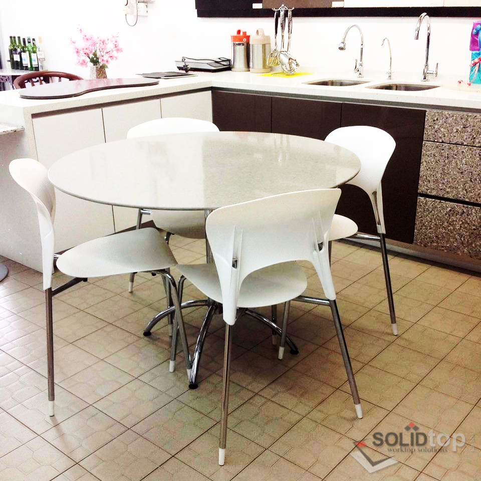 Home | Restaurant | Hotel | Spa Furniture: 4+1 Marble Dining Set