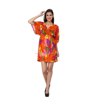 Cotton Printed V Neck 3|4th Sleeves Kaftan/ Summer Dress, Maternity / Half Sleeve kaftan for women wear.