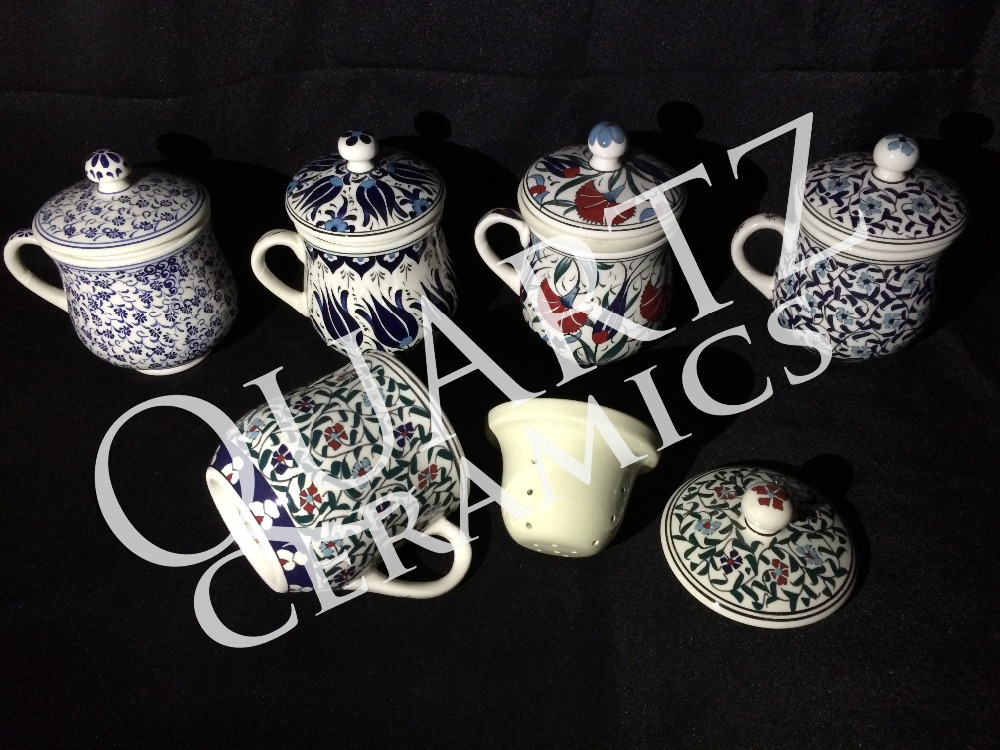 Handmade Turkish Ceramic Herbal Tea Mug