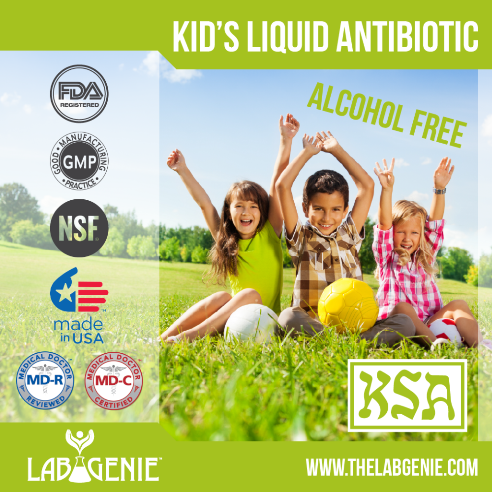Kid's Liquid Antibiotic (Private Label/OEM/White Label or Stock Brands Available)