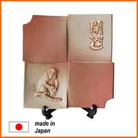 Roof tile mantel art for display Made by Japanese roof tile manufacturer