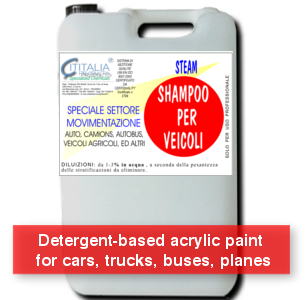 STEAM - Detergent-based acrylic paint for cars, trucks, buses, planes - SUPERECO
