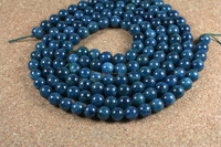 Wholesale 8mm natural round smooth apatite beads for fine jewelry design Indian gemstone beads