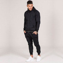 Men's Fleece Jacket and Joggers Pants Sweat Track Suit / Plain Sweat Suits Men Jogger Sweatpants / Cheap Mens Hoody Sports Suit