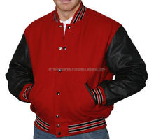 Wholesale Wool Letterman Leather Varsity Jacket from Pakistan