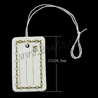 17x28.50x0.50mm Paper Jewelry Price Tag