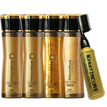 Keratin Cure GOLD & HONEY BIO-Brazilian Keratin Straightening Treatment 2 USE KIT 120ML/4.1 FL.OZ Authentic Keratin Cure Miami