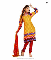 Striped Cotton Dress Material With Malmal Cotton Fancy Dupatta
