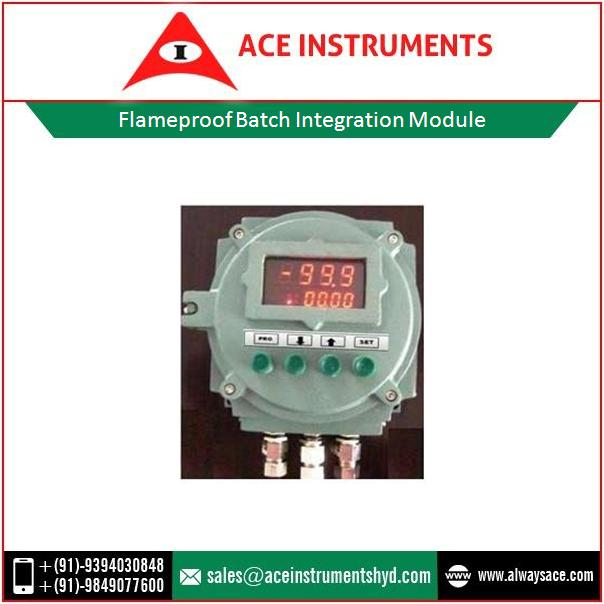 High Intensity Display Flameproof Batch Integration Module for Temperature Measurement