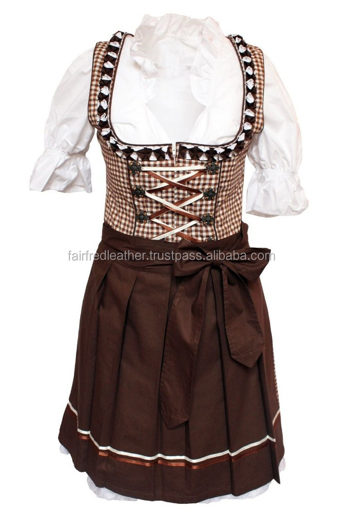 NEW DESIGN DIRNDL DRESS FROM FAIR FRED LEATHER