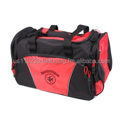 Celeritas Sports red basketball duffel