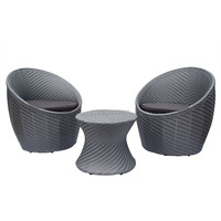 Lounge Table Chair BBQ Set Rattan Wicker Outdoor Patio Furniture