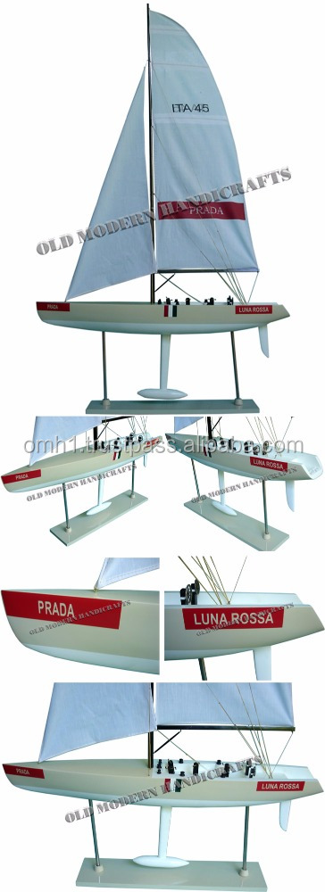 Luna Rossa Painted (L76) sailing yacht model