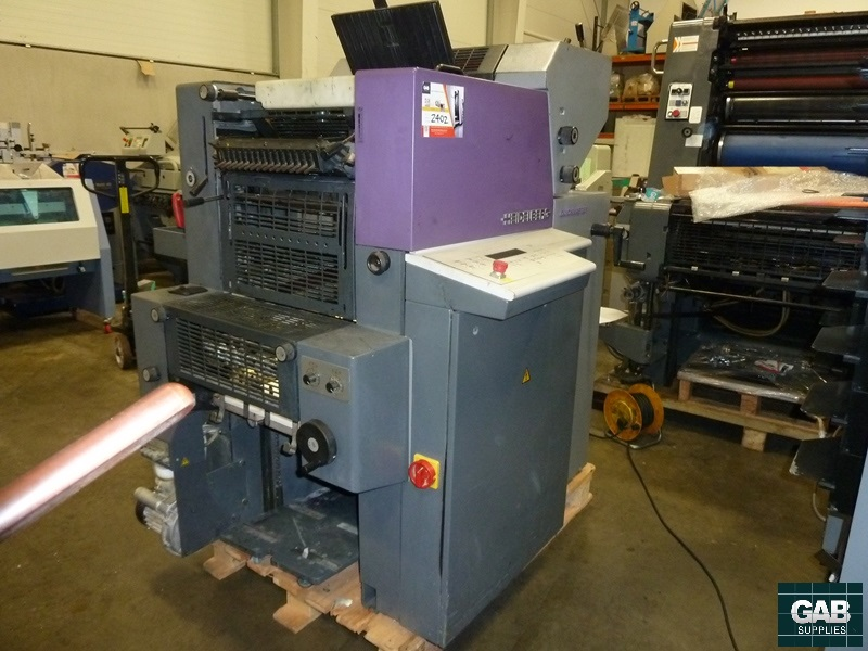 Heidelberg QM 46 two colour offset
