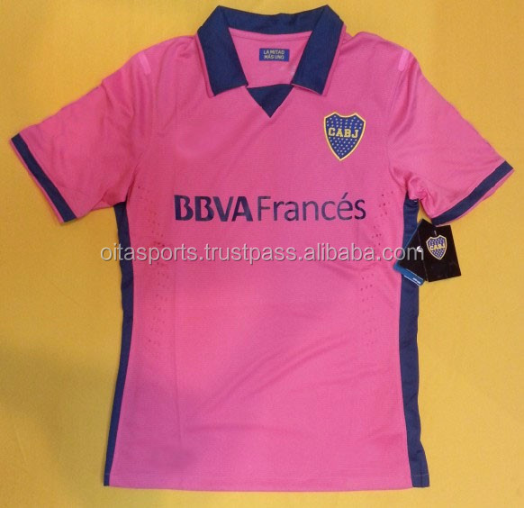Wholesale 2013-14 Boca Juniors Away Pink Popular Soccer Jersey 5# High-quality