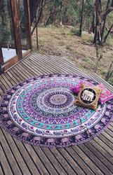 Indian Mandala Tapestries Round Beach Tapestry Beach Picnic Throw Rug Wall tapestry Hippie Tablecloth Round towels Decor