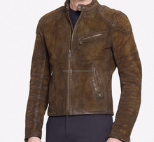 Black Label Brown Leather Turbo Cafe Motorcycle Jacket --FL-2242