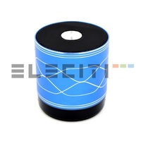 Mini speaker Bluetooth portable USB Radio FM MicroSD LED light Eleciti 9482
