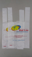 Chicken soup T-shirt plastic bag hdpe bag singlet bag glue spot bag manufacturer recycle bag printing bag biodegradable bag