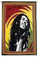 Bob Marley Indian Wall Hanging Multicolour Cotton Tapestry Poster Size Tapestries 42 X 30