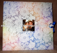 Handmade Paper 12''x12'' Scrapbook Photo Album with window