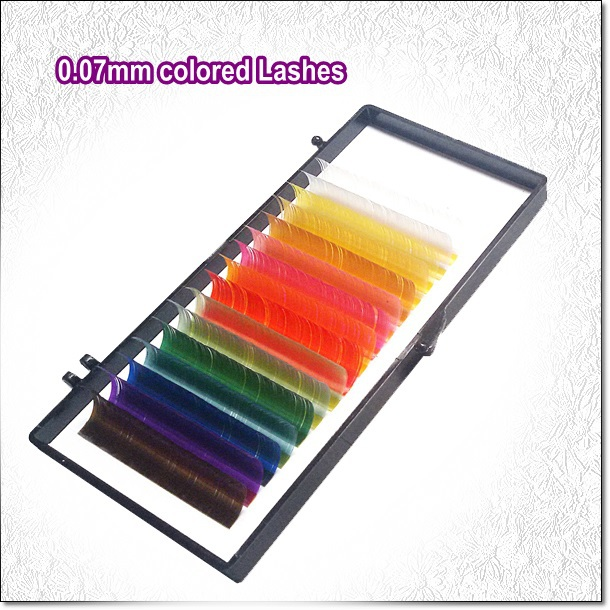 0.07mm Diameter Colored Lashes