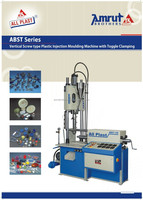 Vertical screw type fully automatic toggle clamping moulding machine