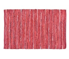 Natural Fibres Maroon Soft Leather Rug