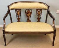 Antique Edwardian Inlaid Sofa Antique Victorian