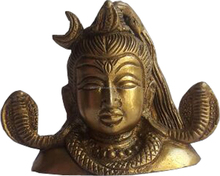 shiva statue with golden finish