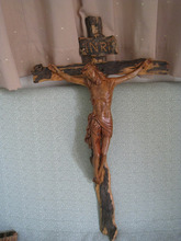 wholesale wall decor wooden crosses for decoration/ Wood Sculpture of Jesus, Maria