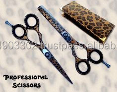 Professional Paper Color coated Scissors Razor Edged Hair Cutting scissors Solingen Quality Germany Jagular G.M. Industries
