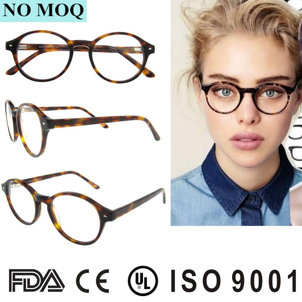 Vintage auge glas rahmen KEINE MOQ neueste designer runde brille ...