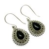 Artisan Design Black Onyx 925 Sterling Silver Oxidized Earring, Indian Silver Jewelry Online, Handmade Gemstone Earrings