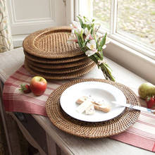 Natural rattan charger plates whosale, wedding charger place, natural rattat placemat