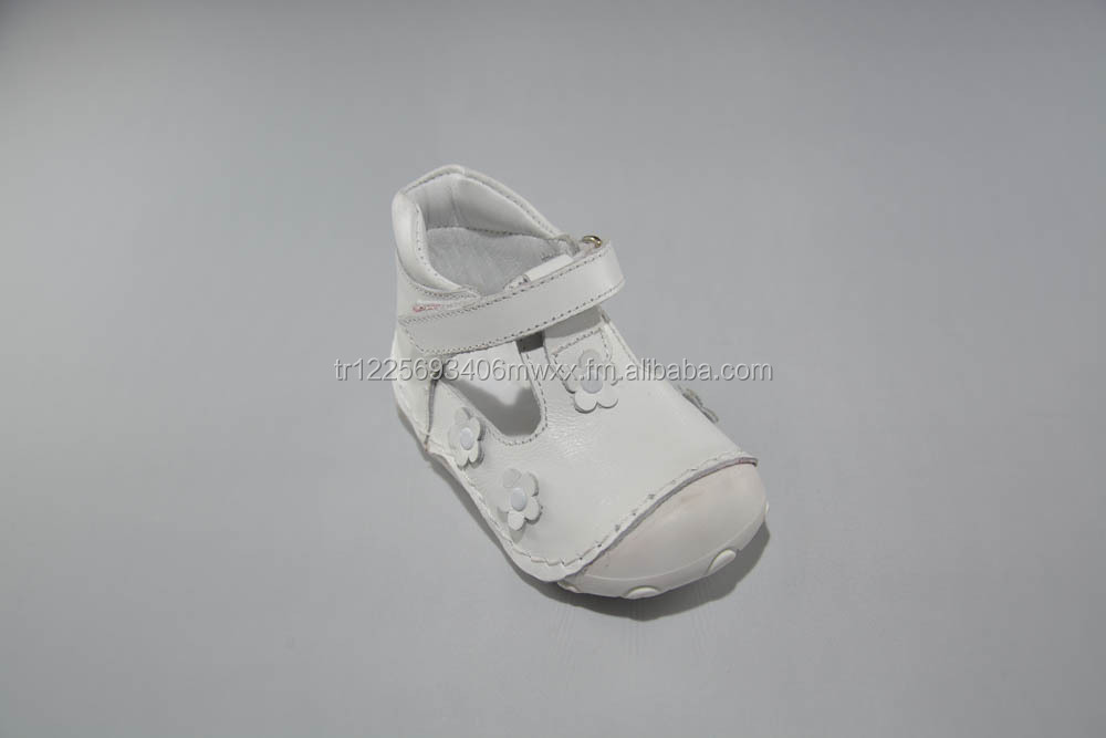 High Quality Soft Genuine Leather Orthopedic Sole Baby Shoes