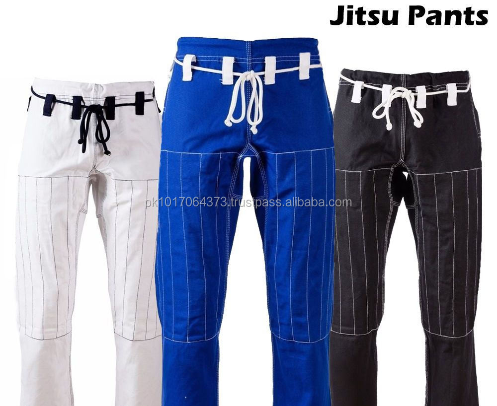 Jiu Jitsu Gi 100% Cotton Material and OEM Service Supply Type BJJ GI Kimonos Jiu Jitsu Pent